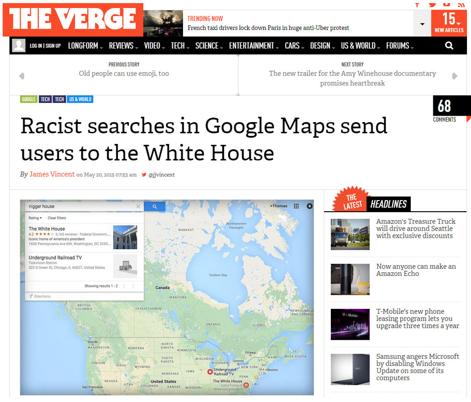 Cartographic Vandalism
