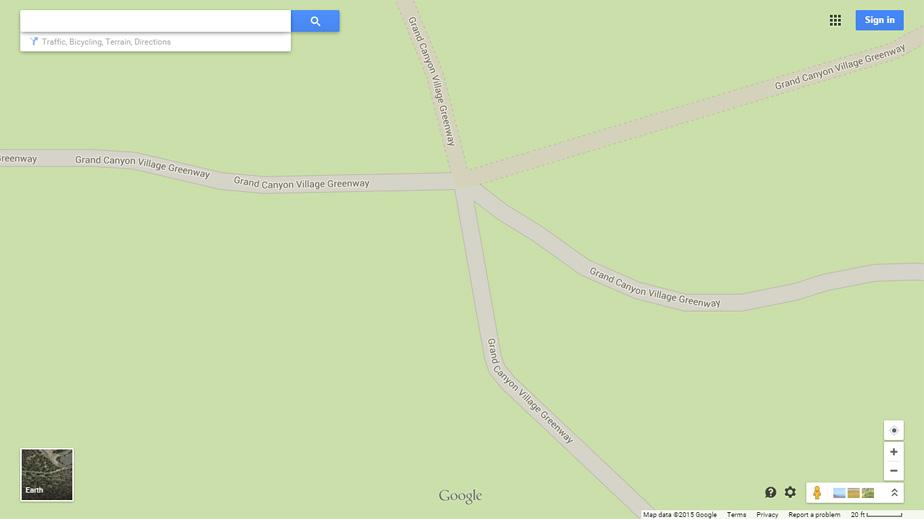 Google Maps Remotely Sensed Data and Designated Public Hiking Trails
