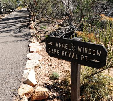 Angels Window Trailhead Sign