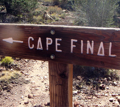 Cape Final Trailhead Sign Post
