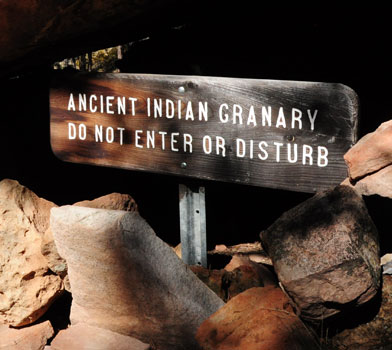 Cliff Spring Indian Granary