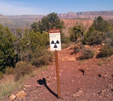 Radioactive Area at Grandview Trail