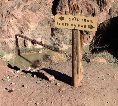 River Trail Sign Post